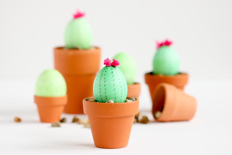 01 cactus easter eggs
