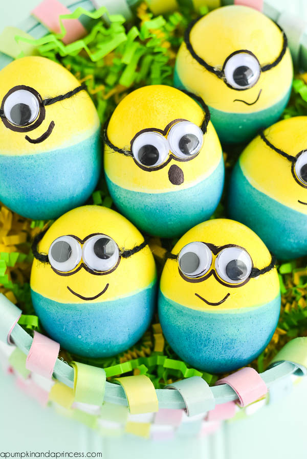 minion easter decorated eggs