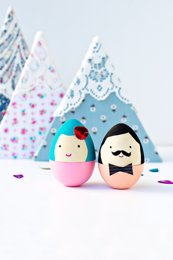 mr and mrs easter eggs