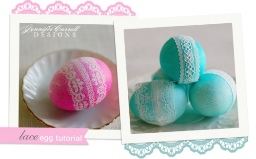 laced wrapped easter eggs