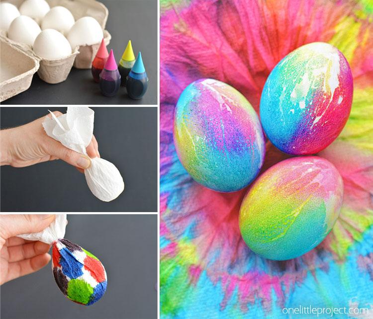 Tie Die Easter Eggs