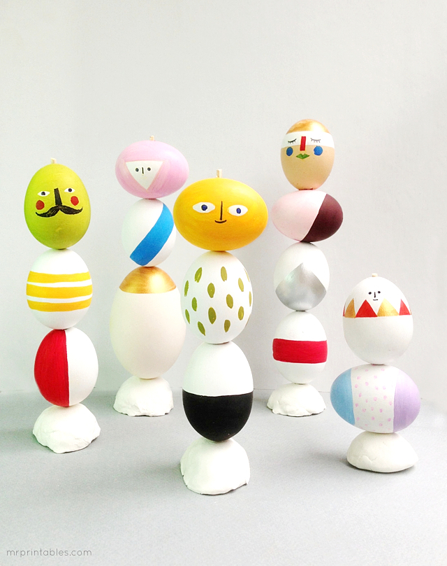 21 easter egg sculptures