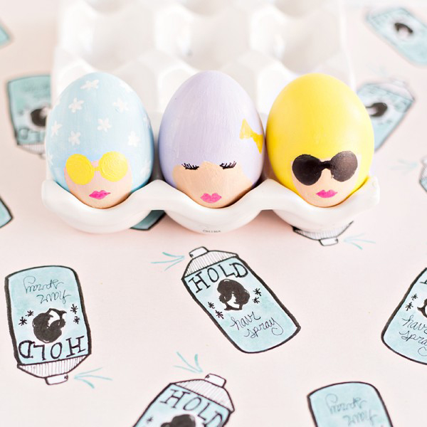 bouffant easter eggs