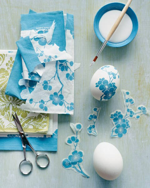 24 decoupage easter eggs