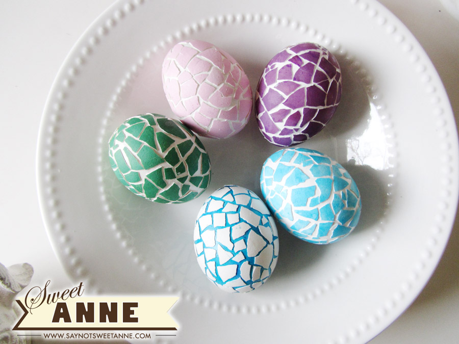 mosaic easter eggs