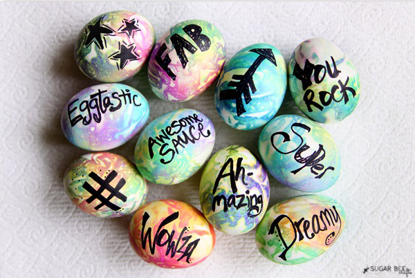 33 tie dye easter eggs