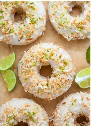 Key Lime Coconut Donut Flavors