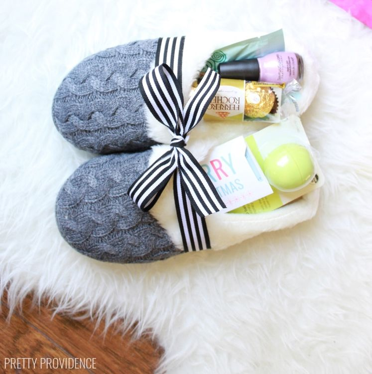 Mother's Day DIY Gift Ideas - Cozy Slipper Gift