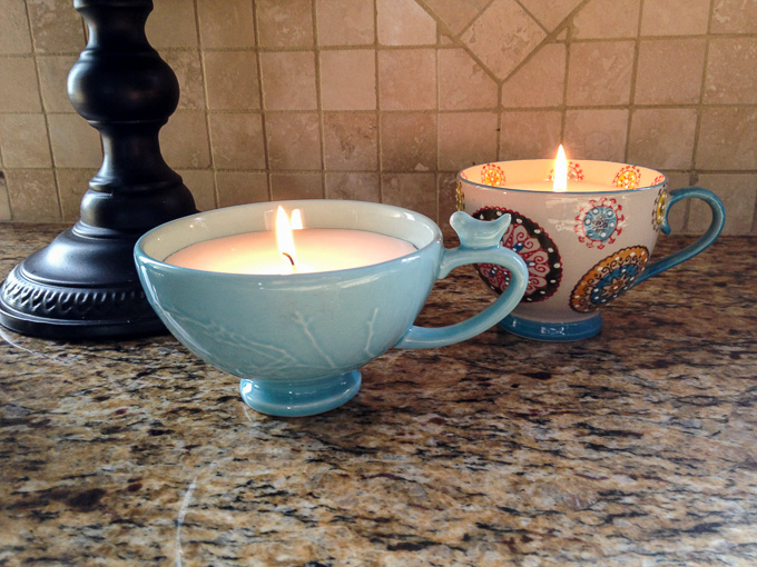 Mother's Day DIY Gift Ideas - Coffee Cup Candles