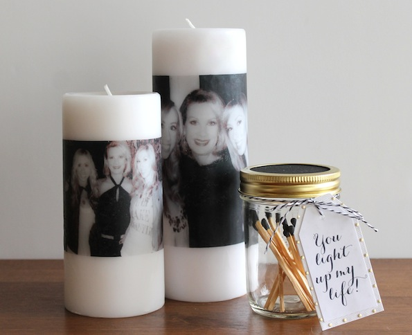 Mother's Day DIY Gift Ideas - Photo Candle