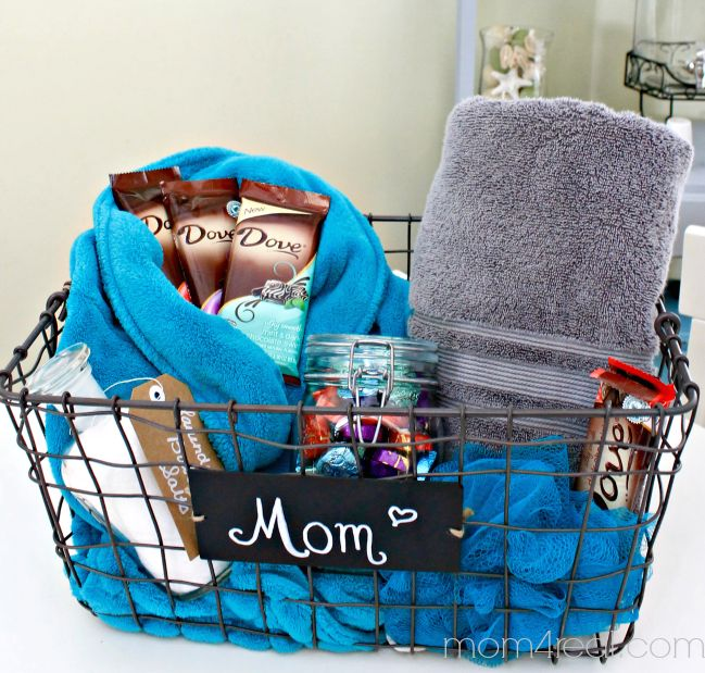 Mother's Day DIY Gift Ideas - Spa Basket