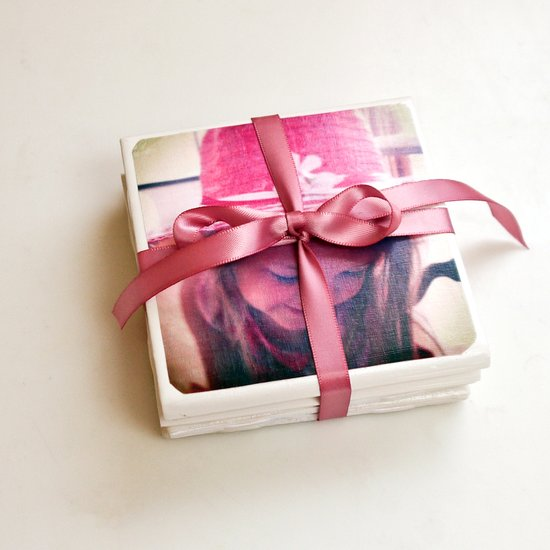 Mother's Day DIY Gift Ideas - Tile Photo Coasters