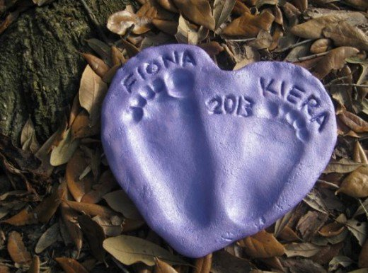 Mother's Day DIY Gift Ideas - Salt Dough Footprint Heart