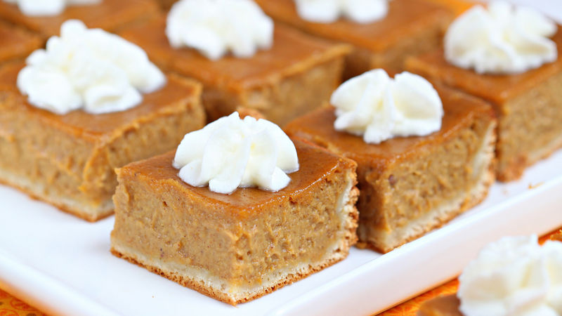 Pumpkin Pie Bars-Best Pumpkin Dessert Recipes