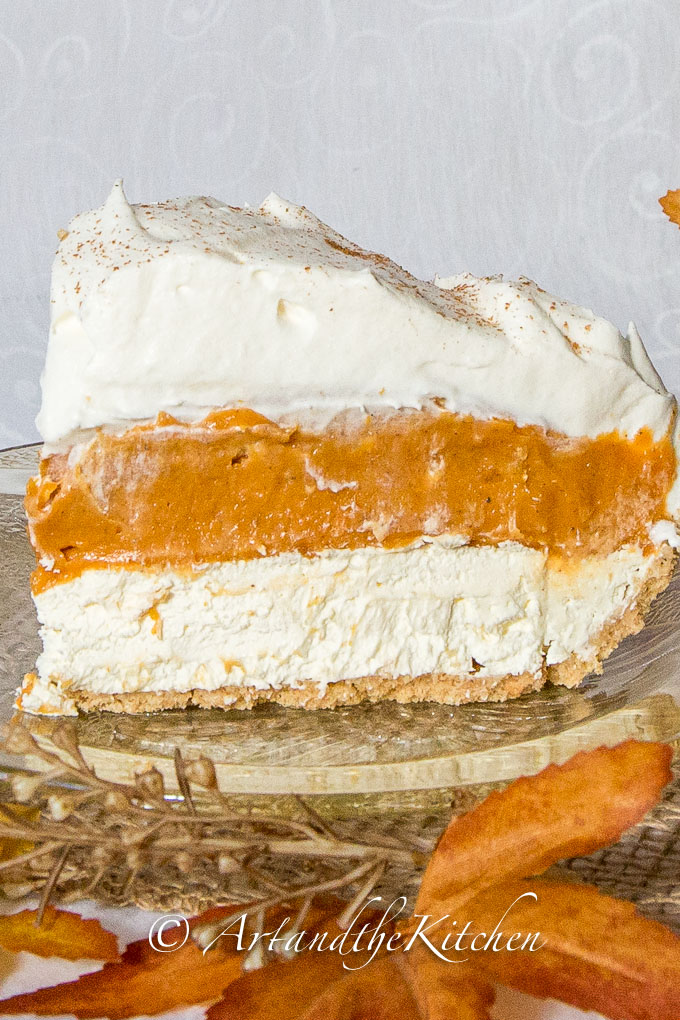 No Bake Triple Layer Pumpkin Pie-Best Pumpkin Dessert Recipes