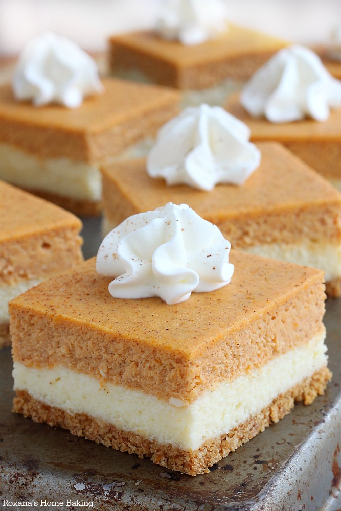 Pumpkin Cheesecake Bars-Best Pumpkin Dessert Recipes