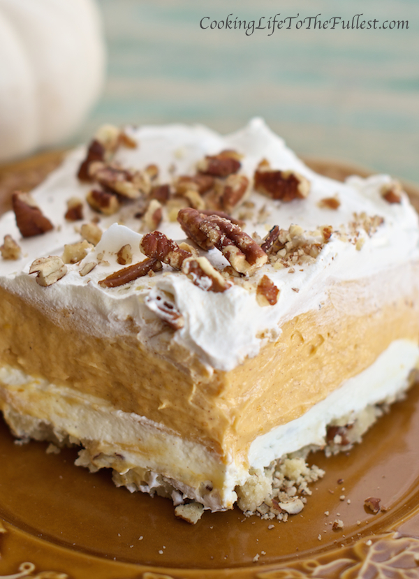 Layered Pumpkin Lasagna-Best Pumpkin Dessert Recipes