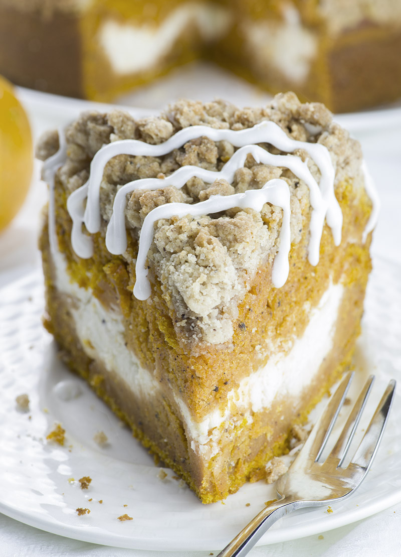 Pumpkin Cream Cheese Crumb Cake-Best Pumpkin Dessert Recipes