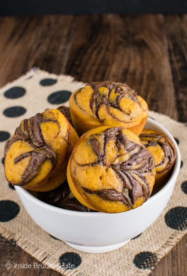 Pumpkin Nutella Muffins-Best Pumpkin Dessert Recipes