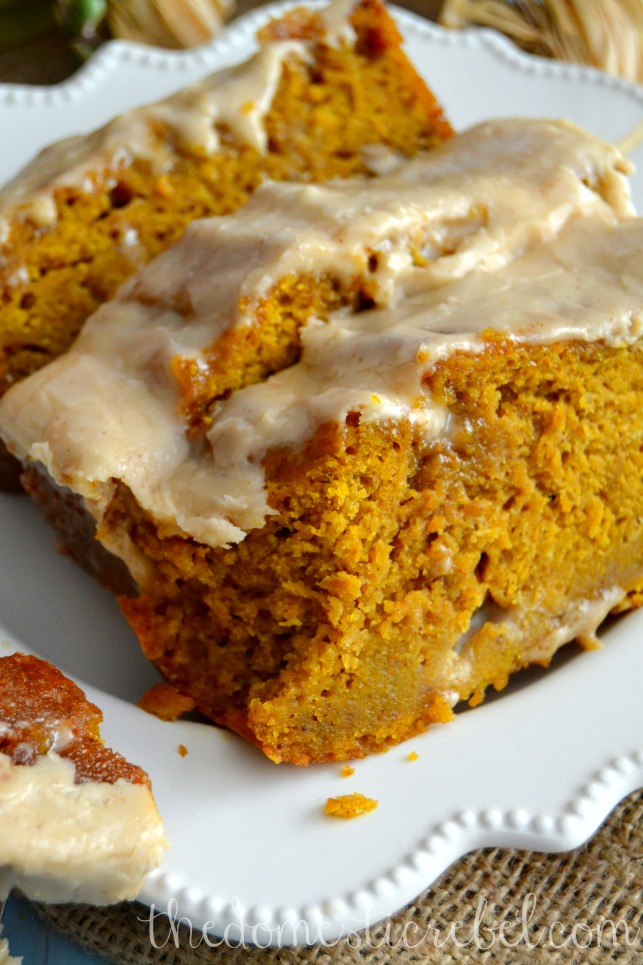 The Best Pumpkin Bread with Brown Butter Maple Icing-Best Pumpkin Dessert Recipes