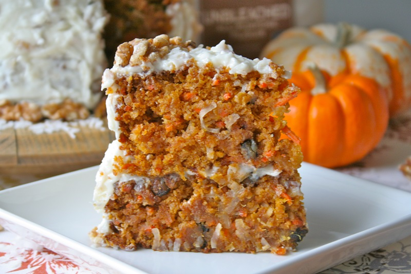 Pumpkin Carrot Cake - Best Pumpkin Dessert Recipes