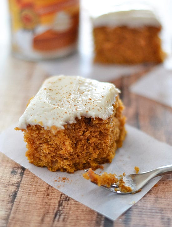 Grandma's Pumpkin Snack Cake -Best Pumpkin Dessert Recipes