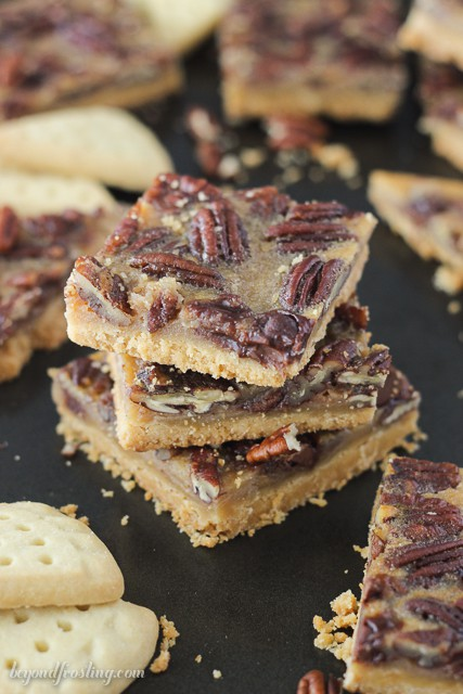 Bourbon Chocolate Pecan Pie Bars