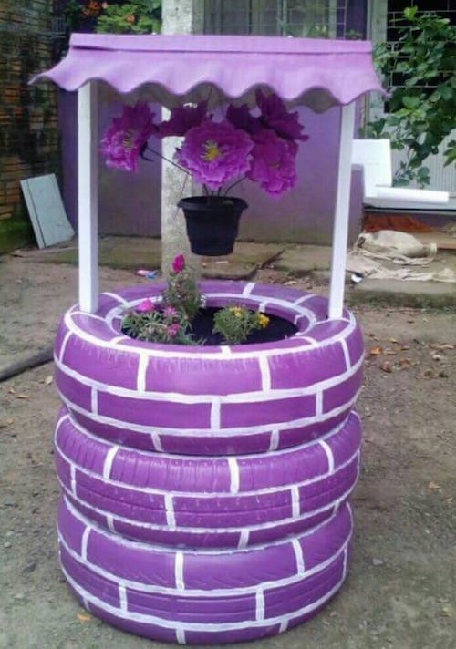 Outdoor Living Ideas - Wishing Well Planter