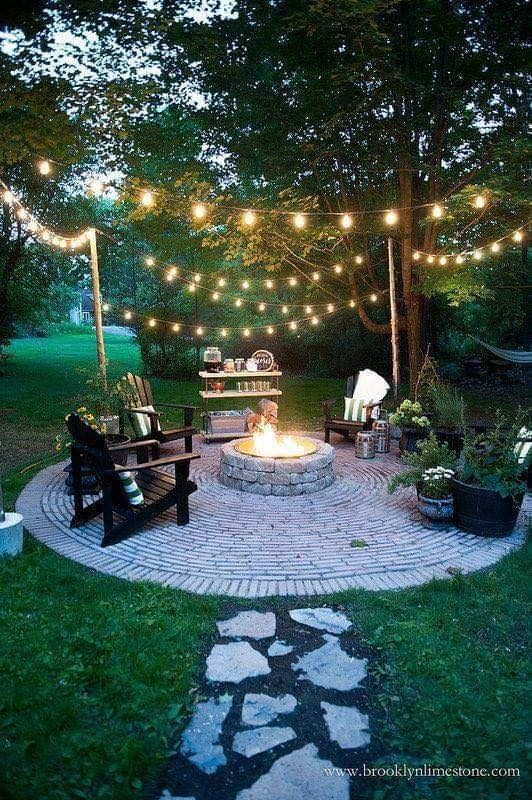 DIY Circular Firepit Patio