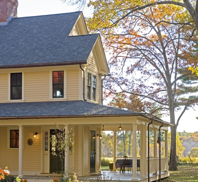 Farmhouse with a Wrap-Around Porch