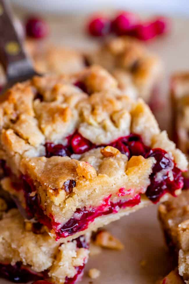 Buttery Cranberry Shortbread Bars