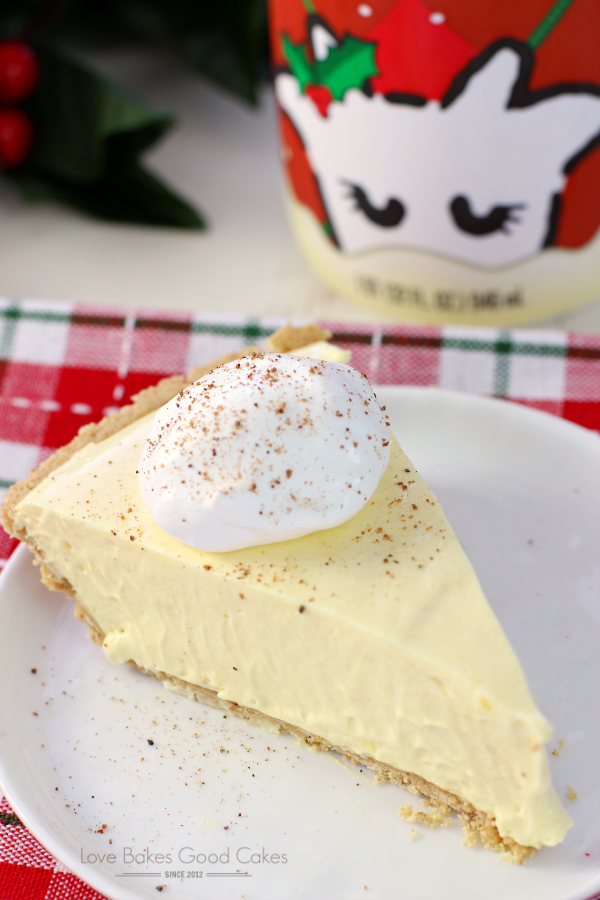 No Bake Egg Nog Pie