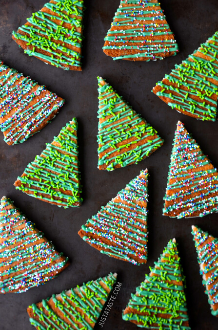 Christmas Tree Shortbread Cookies