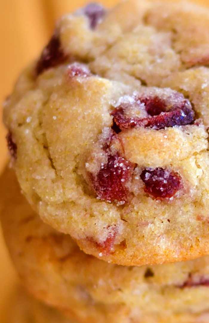 Soft Cranberry Sugar Cookies