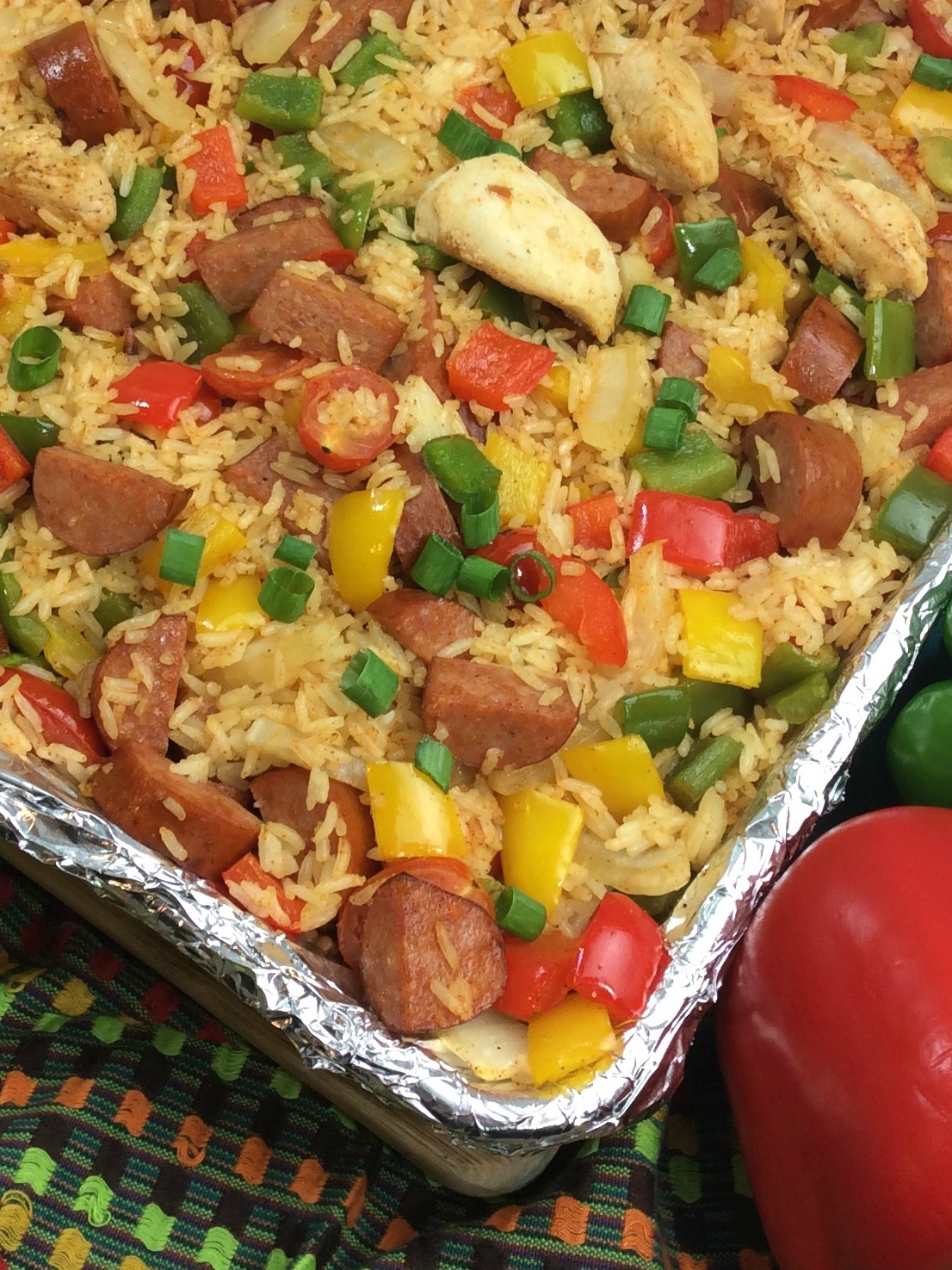 Sheet Pan Cajun Jambalaya