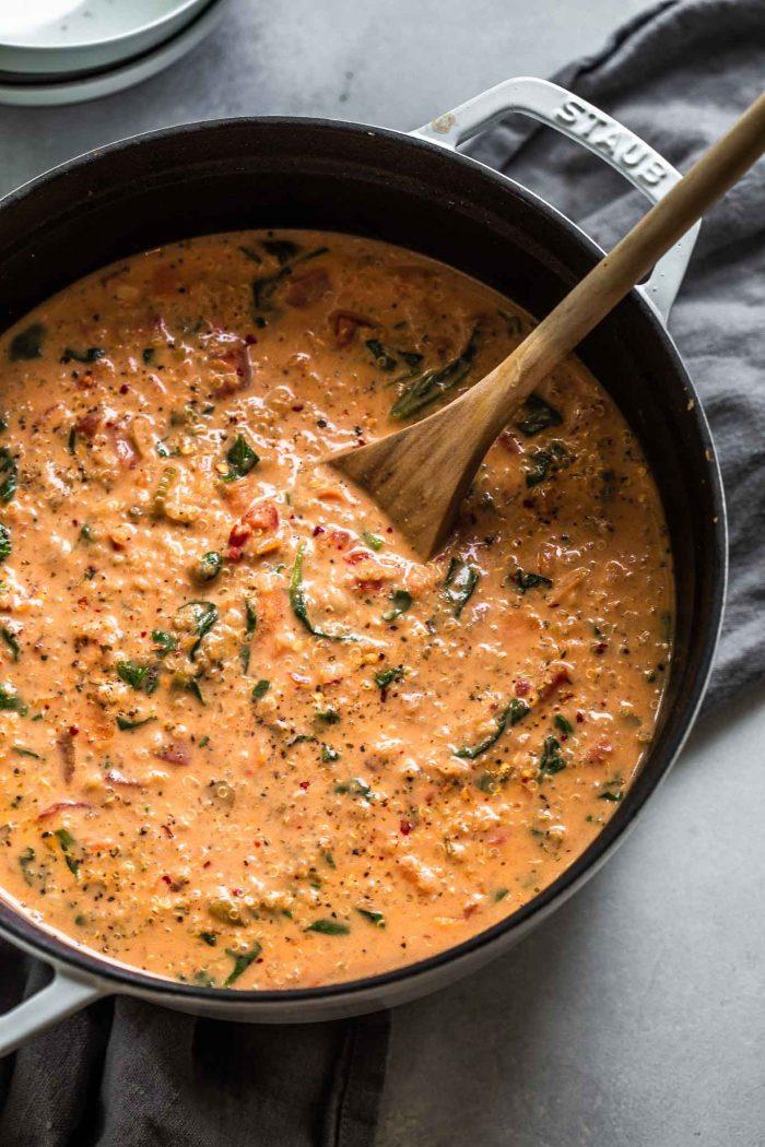 Creamy Italian Quinoa Soup