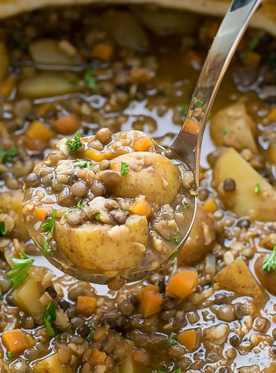 Easy Lentil Potato Soup