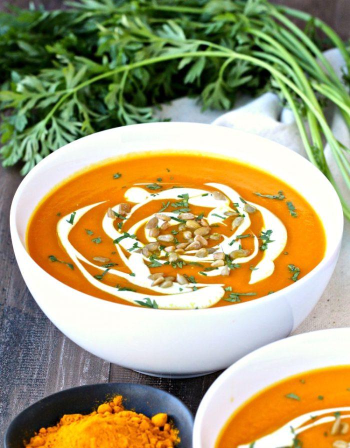 Immunity Boosting Carrot Turmeric Soup