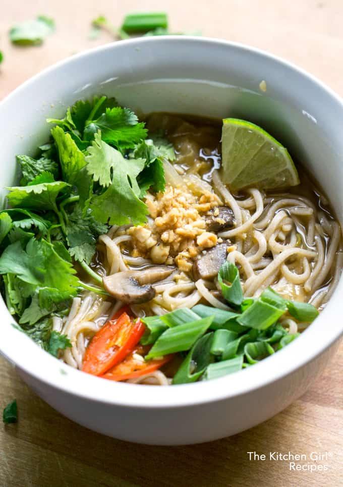 Cold Relief Veggie Noodle Soup