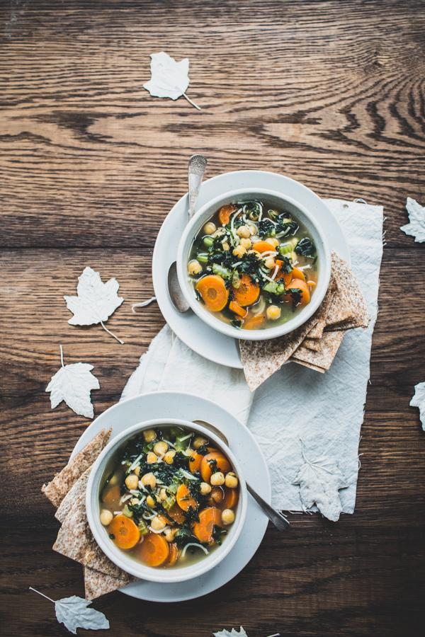 Healing Green Tea & Chickpea Soup