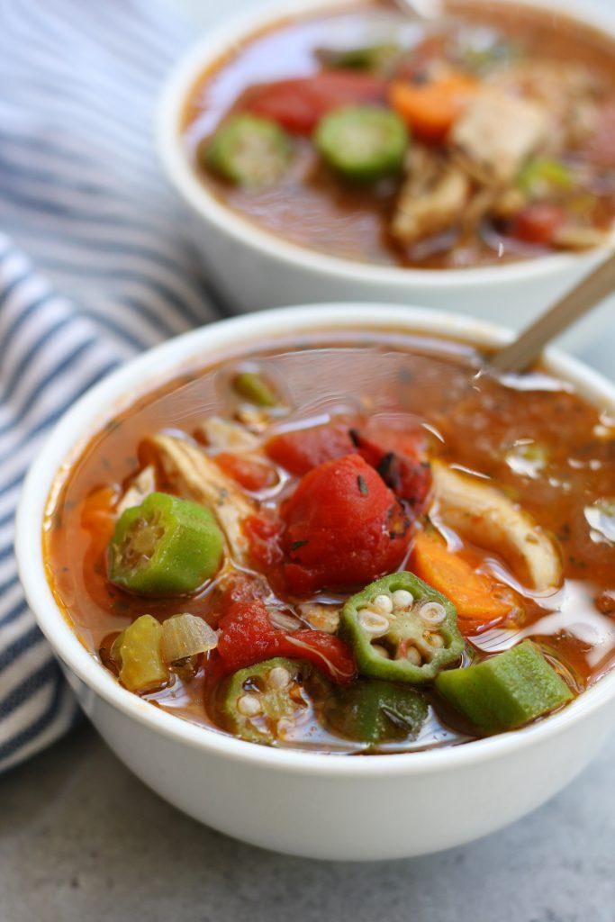 Mom's Chicken Gumbo Soup