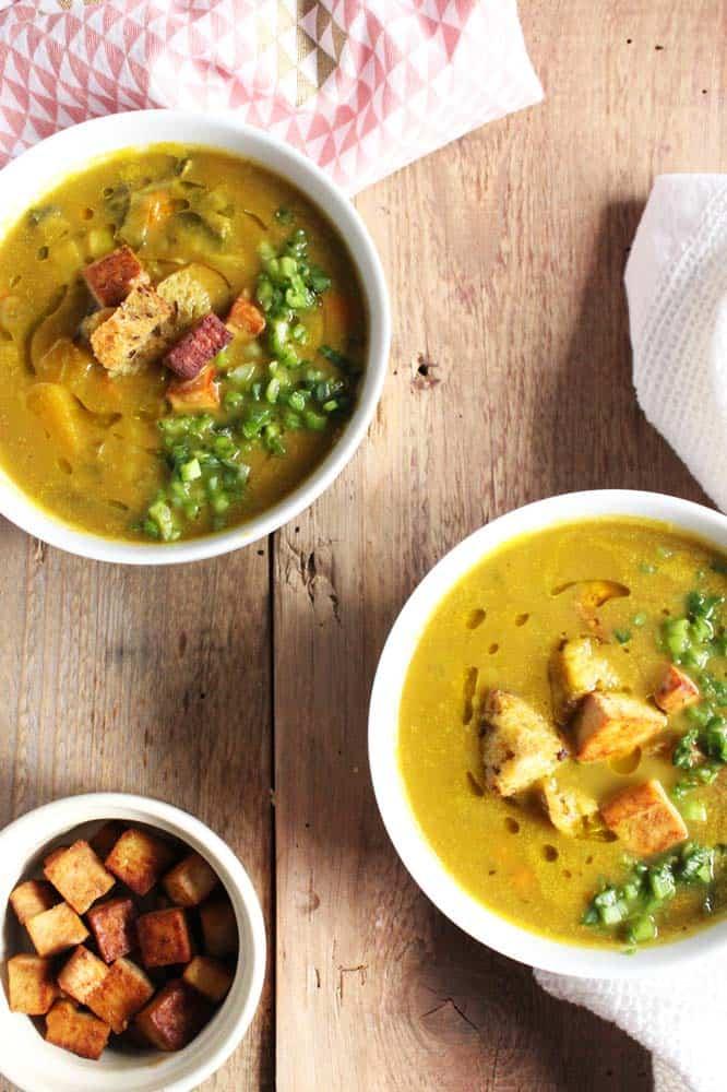 Winter Squash, Leek and Vegetable Soup
