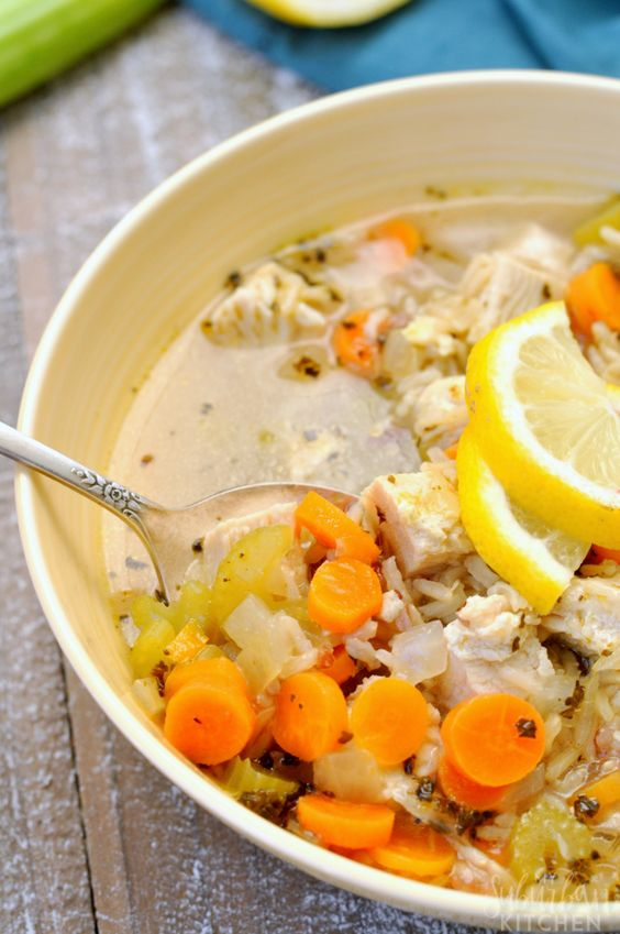 Cold Busting Lemon Chicken Soup