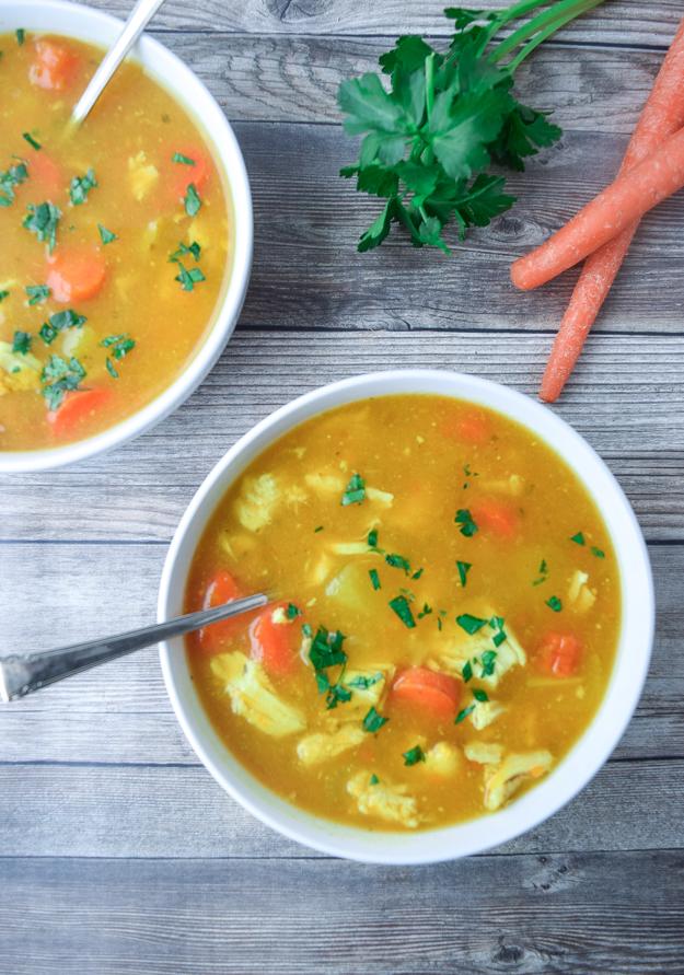 Healing Instant Pot Chicken Soup