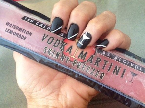 Skinny Vodka Martini Popsicles