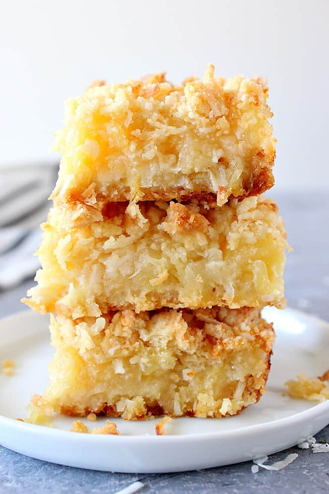 Pineapple Coconut Crumb Bars