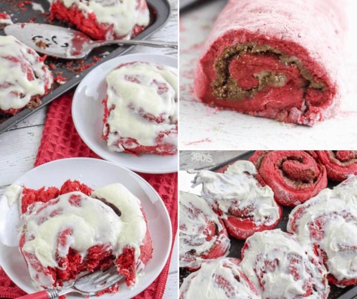 Red Velvet Cinnamon Rolls