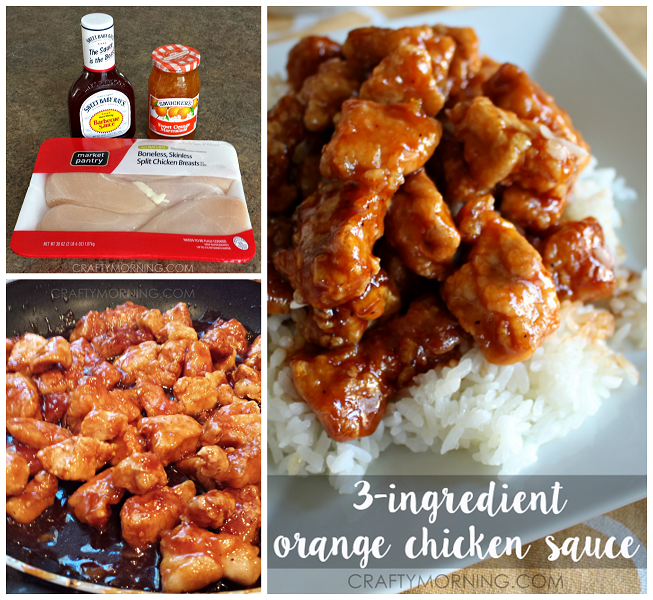 3-Ingredient Orange Chicken