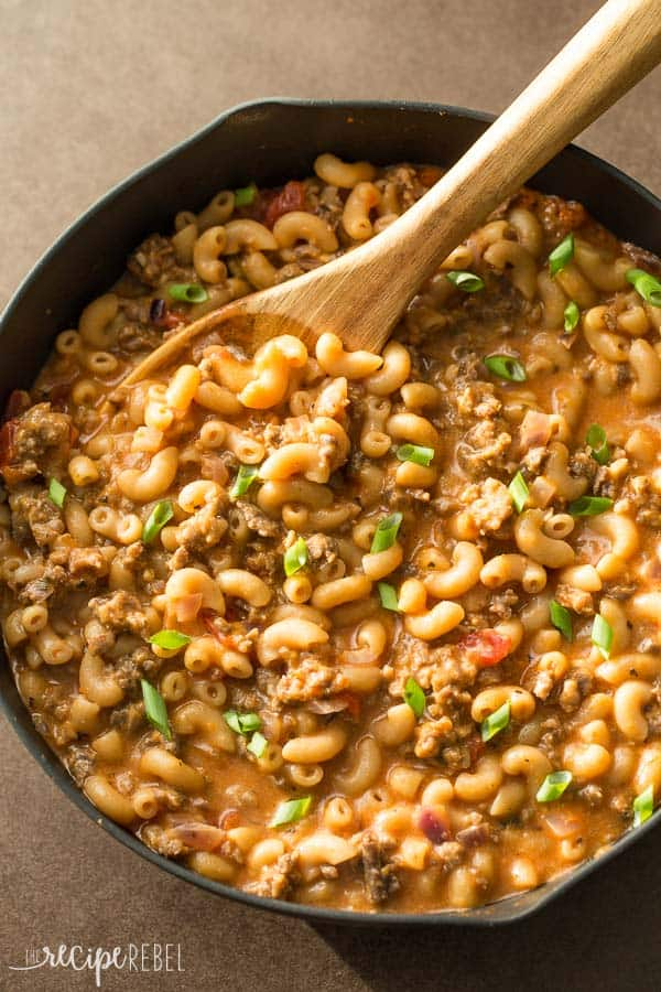 Healthier Hamburger Helper