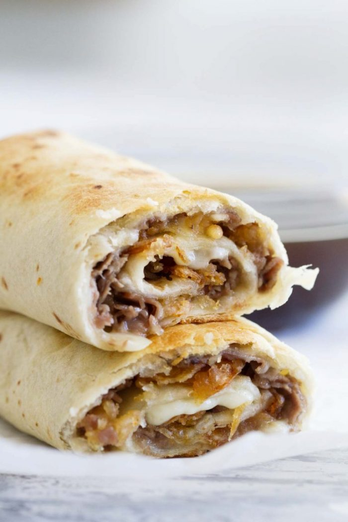 French Dip Tortilla Roll Ups